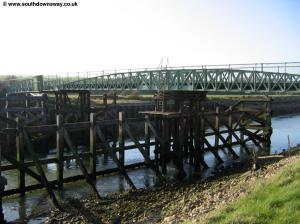 The swing bridge at Southease