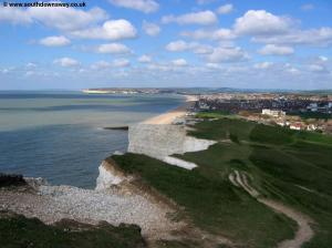 Looking back over Seaford and Newhaven