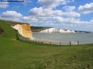 The Seven Sisters and beach
