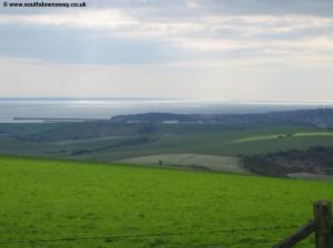 View from Firle Beacon to Newhaven