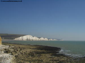 The beach at Cuckmere Haven