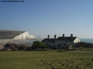 Houses at Cuckmere Haven